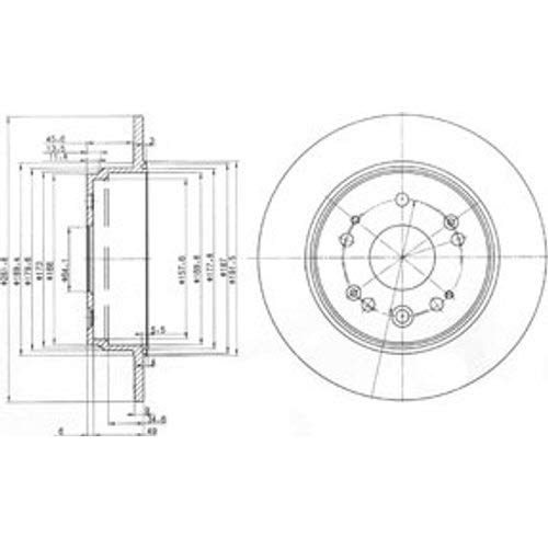 Delphi Bremsscheiben /Ø280Mm Bremsbel/äge Set Hinten