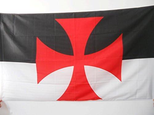 AZ FLAG Bandera de los TEMPLARIOS BAUSSANT 90x60cm para Palo - Bandera Orden del Temple 60 x 90 cm: Amazon.es: Hogar