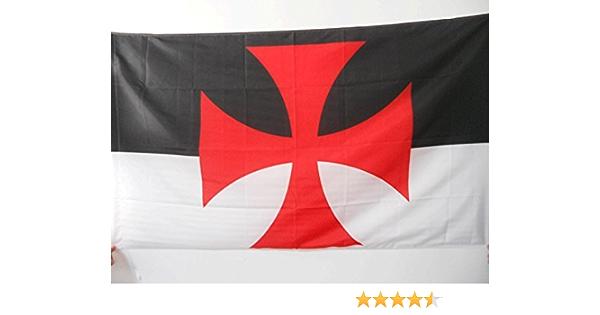 AZ FLAG Bandera de los TEMPLARIOS BAUSSANT 150x90cm para Palo - Bandera Orden del Temple 90 x 150 cm: Amazon.es: Hogar