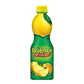 ReaLemon 100% Lemon Juice, 8 Fluid Ounce Bottle 106 One 8 fluid ounce bottle 100% lemon juice from concentrate Great for use in recipes and beverages