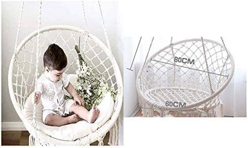 ブランコ 子どもたちは、有害化学物質が含まれていない屋内用の幼児用ハンギングスイングチェアパーフェクトスイング ジャングルジム・ブランコ (色 : Creamy-white, Size : Free Size)