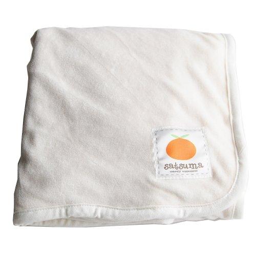 Satsuma Designs Velour Baby Blanket - Natural