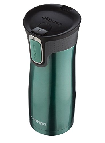 Contigo AUTOSEAL Travel Mug - Stainless Steel Vacuum Insulated Tumbler - 2 Pack (Green/Stainless Steel) by Generic (Image #3)