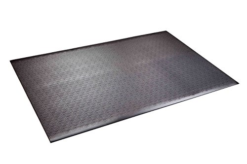 "SuperMats High Density Commercial Grade Solid Equipment Mat 24GS Made in U.S.A. for Home Gyms CrossFit Training Flooring Weight Benches, Weightlifting Equipment and General Flooring and Equipment Mat Needs  (4 Feet x 6 Feet)   (48"" x 72"") (121.9 cm x 182.9 cm)"