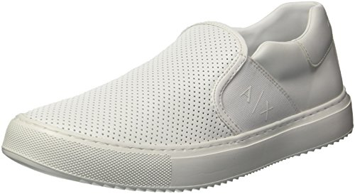 on X Perforated Men Slip Sneaker Exchange Armani A White YqHdw1Y