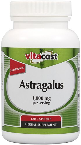 Vitacost Astragalus Extract - Normalisé - 1.000 mg par portion - 120 Capsules