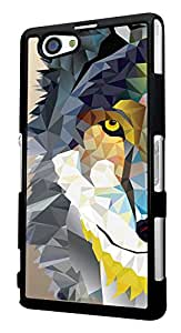283 - geometric Aztec Wolf Tiger Face Design For Sony Xperia Z1 Compact Fashion Trend CASE Back COVER Plastic&Thin Metal