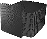 BalanceFrom Puzzle Exercise Mat with EVA Foam Interlocking Tiles for Exercise, MMA, Gymnastics and Home Gym Pr