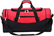 "Telosports Sport Bag 23"" Camouflage Travel Luggage Sports Duffel Gym Bag with Shoe Compar"