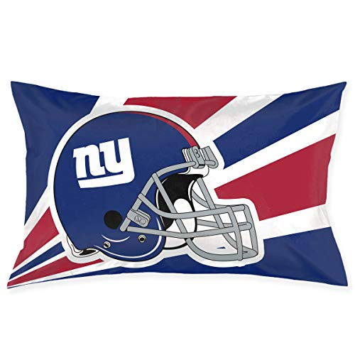 Marrytiny Custom Pillowcase Colorful New York Giants American Football Team Bedding Pillow Covers Rectangular Pillow Cases for Home Couch Sofa Bedding Decorative - 20x30 Inches
