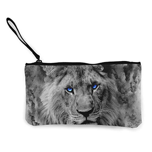 Terany Canvas Pencil Case - Cool Lion King Durable Cosmetic Makeup Bag Zipper Closure Coin Purse Wallet Phone Pouch with Handle for Kids Adults -