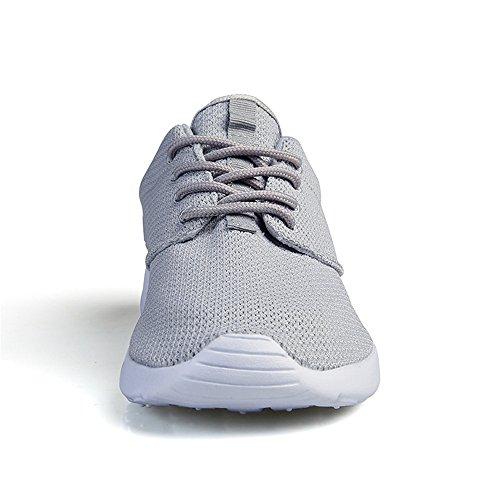 Damen Turnschuhe Fitness Norulb Herren Sportschuhe Grau Sommerschuhe Laufschuhe Sneaker Freizeit f16Rw1