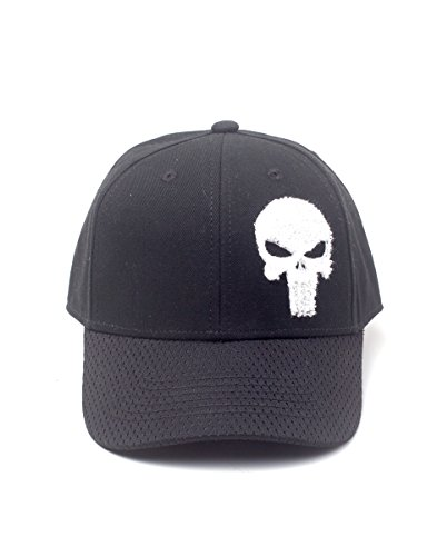 Black Cap de Adulto Negro Marvel Gorra Comics Adjustable The Béisbol Unisex única Varsity Black Punisher Talla nOqB4w