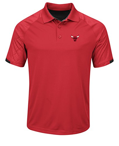 NBA Chicago Bulls Men's Excitement Synthetic Polo Shirt, X-Large, Athletic - Polo Chicago Store