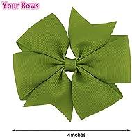 40pc 4 Inch Hair Clip Grosgrain 30color Hairpins Children 4.5cm Boutique Girls Accessories Hair Bows Pinzas Para El Cabello Hair Accessories
