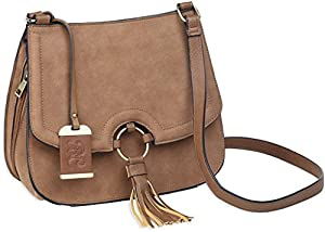 Bulldog Cases Concealed Carry Purse with Holster Cross Body Style- Camel Suede