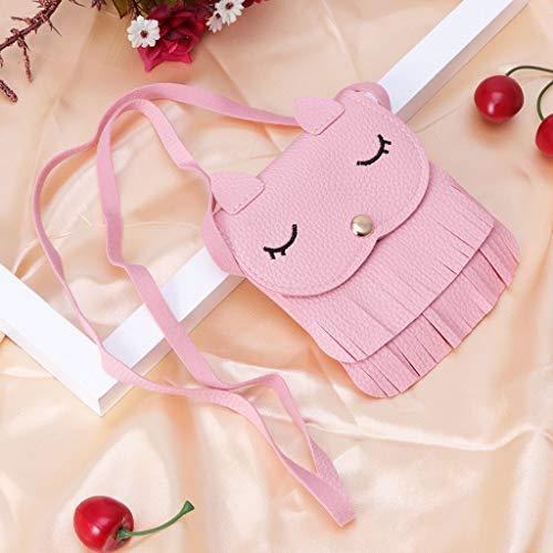 con de Fox BR monederos rosa Kimruida niños Bolso para de Hombro Little Bandolera Tassel diseño Monedero UqwfxIz