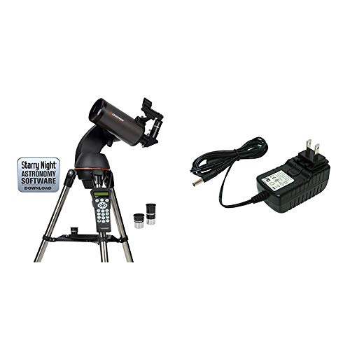 Celestron NexStar 90SLT Mak Computerized Telescope (Black) with 18778 AC Adapter (Black)