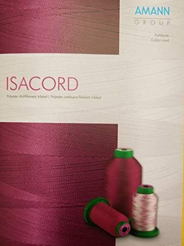 Chart Embroidery Color - ISACORD Real Thread Color Swatch Chart
