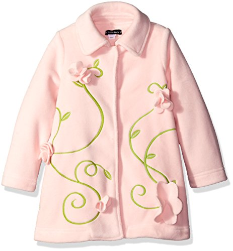 Kate Mack Little Girls' Polar Fleece Coat with Flowers, Pink, 6X by Kate Mack