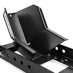 XtremepowerUS Motorcycle Trailer Wheel Chock 1000 Lbs Motorcycle Stand Mount