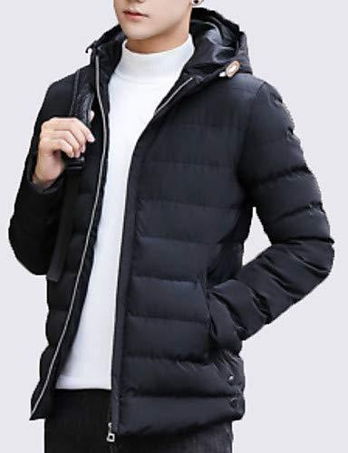 CHENGZI Männer gepolstert - Solid Farbeed Hooded Long Sleeve