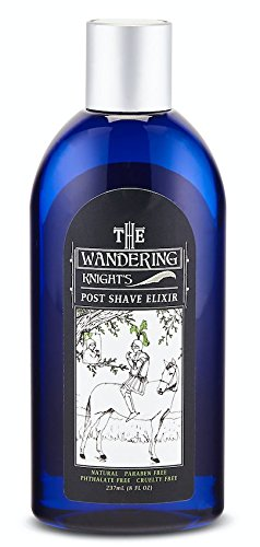 The Wandering Knight's Post Shave and Toner 8oz, All Natural, Paraben-free, Phthalate-free, Vegan, Ethically Made in the USA in Fair Labor Conditions, Stop Red Bumps After Shaving