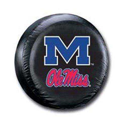 NCAA Mississippi Old Miss Rebels Tire Cover, Standard, Black