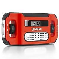 Duronic Apex Pantalla digital de cuerda Energía solar AM /FM Radio Despertador Antorcha Función de carga del teléfono - Nunca necesita baterías