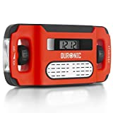 Duronic Apex Digital Display Wind-Up Solar Powered AM/FM Radio Alarm Clock Torch Phone Charging Function - Never Needs Batteries