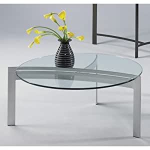 Mirage Contemporary Coffee Table Metal Finish: Platinum