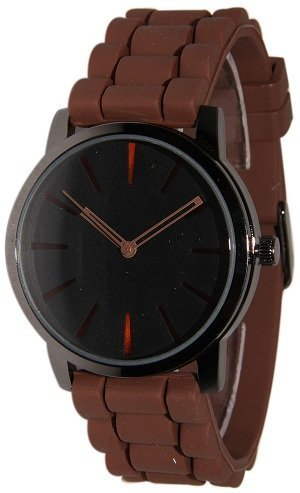 Lowpricenice Brown w/ Black Silicone Watch