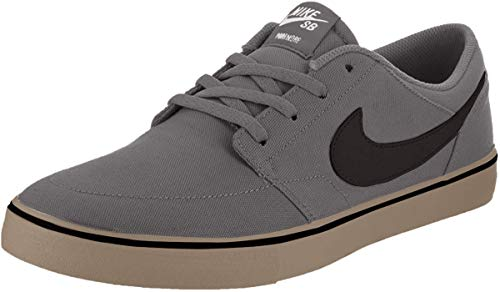 Nike Men's SB Portmore II Solar Skate Shoe Dark Grey/Black/Gum/Light Brown 10.5 M US