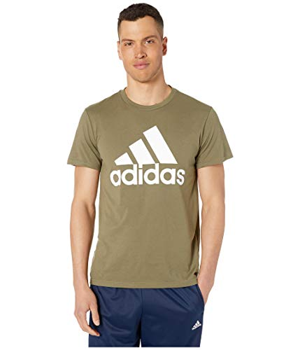 adidas Men's Badge of Sport Classic Tee Raw Khaki Medium ()