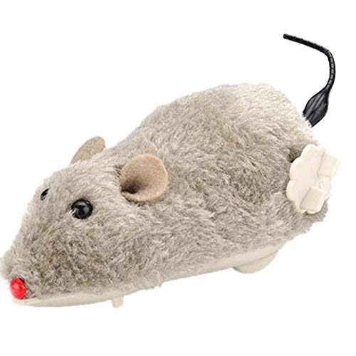 (lightclub Pet Dog Cat Plush Funny Toy Mouse Animal Clockwork Wind Up Toy Running Play Toy Gift Novelty and Funny Toy for Baby Boy Girl Random Color)