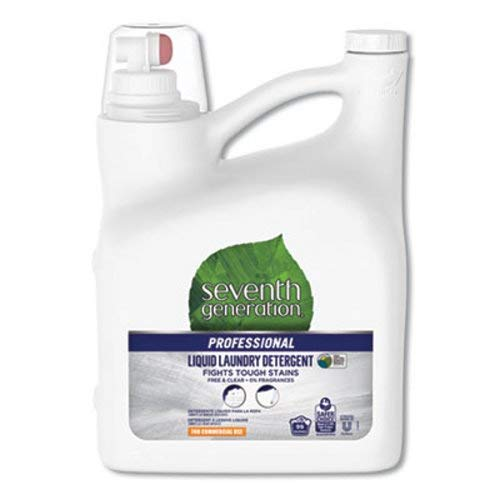 Seventh Generation Professional Liquid Laundry Detergent, Free and Clear Scent, 150 oz Bottle, 4/Carton