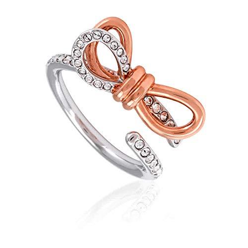 Swarovski Crystal Lifelong Medium Bow Ring White Mixed Plated Size 8