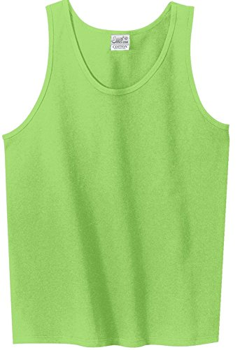 Joe's USA(tm - 100% Cotton Tank Tops in 16 Colors Lime