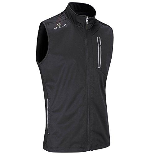 Stuburt Golf 2017 Mens Endurance Sports Thermal Full Zip WindProof Gilet Vest Black - Mens Windproof Vest