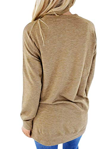 Rond L Pullover Olive S Mince Sweatshirt Poches Casual XL Col Automne Pull FIYOTE XXL M Hiver w071SxqxY