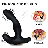 Vibrating Anal Prostate Massager Anal Sex Toys G Spot Vibrator with 12 Vibration USB Rechargeable Double Powerful Motor Realistic Vibrant Job Blow Anal Butt Plug for Men Masturbation