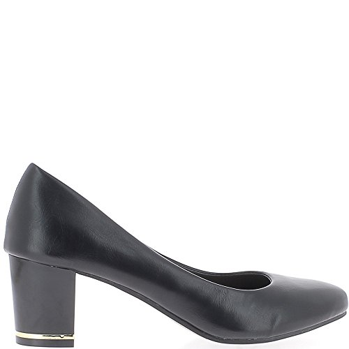 Zapatos retro negros con pequeños tacones de 6cm