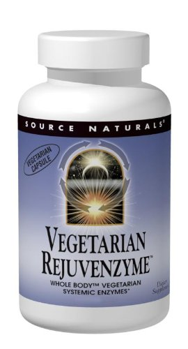 Source Naturals Vegetarian RejuvenZyme, Whole Body Vegetarian Systemic Enzymes, 500 Capsules by Source Naturals
