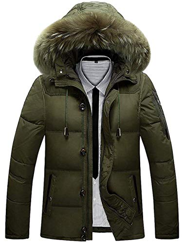 Staccabile Staccabile Staccabile Grün Antivento Inverno Caldo Caldo Caldo Addensare Armee Uomo Anatra Coat Cappuccio con Giù cwZYqqPU
