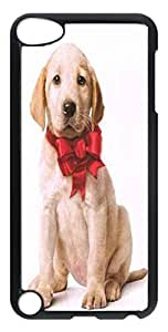 Black PC Case Cover For ipod touch 5 5th Durable PC Shell Skin For ipod touch 5 5th With Angel Dog