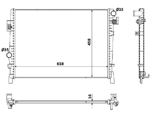 NRF 53901 K/ühler Motork/ühlung