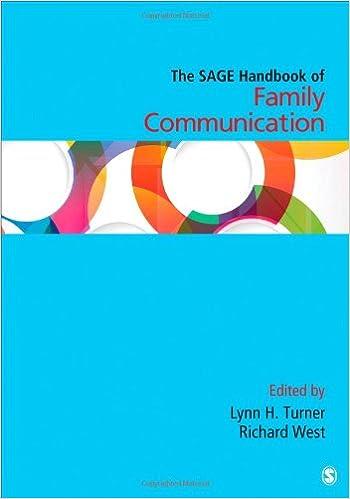 Amazon.com: The SAGE Handbook Of Family Communication (Sage Handbooks)  (9781483345956): Lynn H Turner, Richard L. West: Books