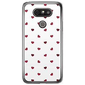 Loud Universe LG G5 Love Valentine Printing Files Valentine 59 Printed Transparent Edge Case - Red & White