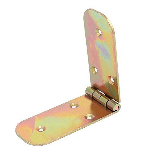 DealMux Wooden Case Cabinet Door 170mmx40mm Metal Screw Fixed Butt Hinge Bronze Tone