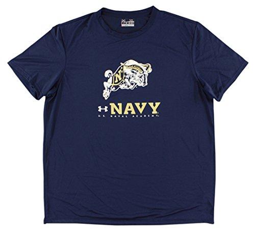 Under Armour Mens Navy Midshipmen College Tech Nov T Shirt Navy Blue XL